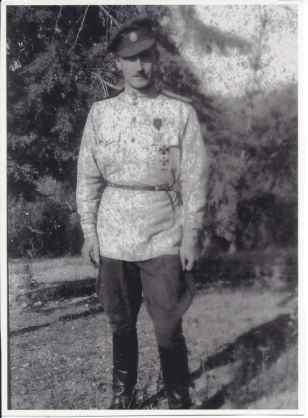 Полковник Белой армии Александр Фермор, 1921 год.